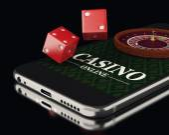 3D Smartphone s rulety a kostky. Casino