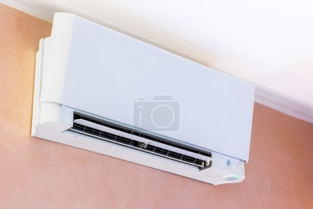 air conditioner installed on the wall
