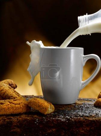 Photo pour Lait et biscuits - image libre de droit