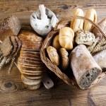 Breads in basket...