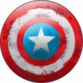 Full vector representation design of Captain America shield