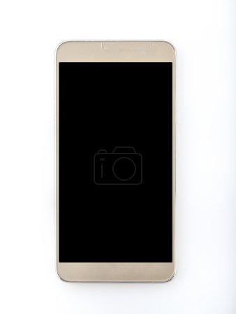 Modern Smart phone on White Background