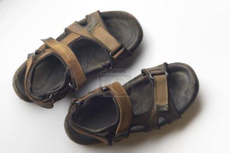 Old Brown Suede Sandals.