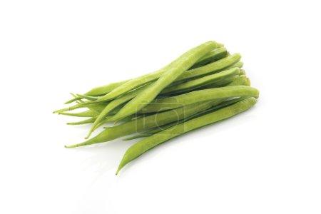 Cluster Beans on White Background