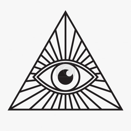 Illustration for All seeing eye symbol, vector illustration - Royalty Free Image