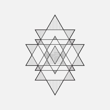Illustration for Geometric shapes, line design, triangle - Royalty Free Image