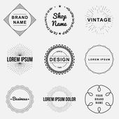 Set of retro vintage badges and label logo graphics Design elements business signs labels logos circle design