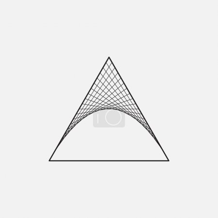Triangle with hyperbolic paraboloid