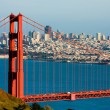 Golden Gate Bridge and downtown San Francisco...