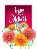 Mothers Day Lettering poster advertising of spring flowers Ger