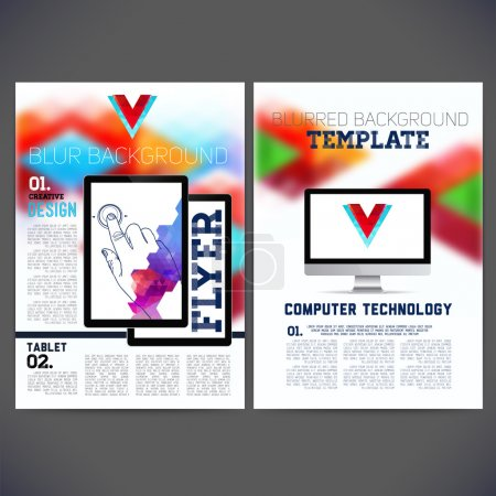 Abstract Flyer, Brochure Design Templates.