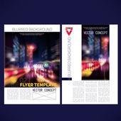 Abstract vector template design flyer