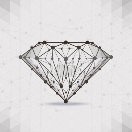 Illustration for Forms design background, vector composition of a triangle - Royalty Free Image