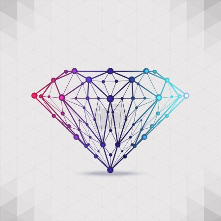 Abstract form compounds of the composition and facets of the diamond