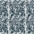 Abstract seamless lace pattern with flowers on whi...