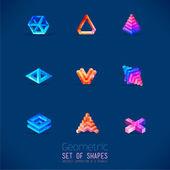 Set of color geometric figures