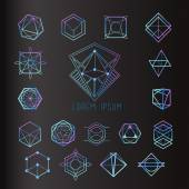 Set of geometric shapes, logo icons