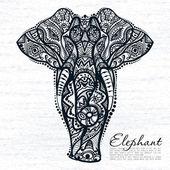 Abstraktní slon s indickými ornament