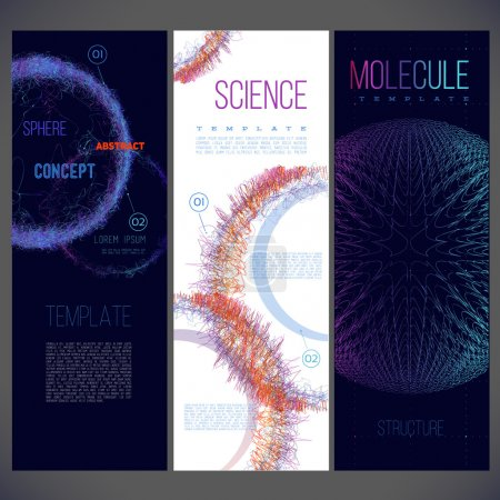 banners for science, research concept