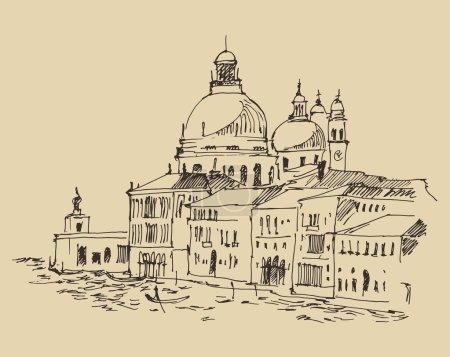 hand drawn Venice city