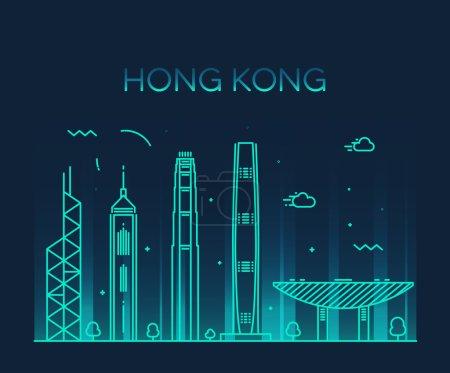 Hong Kong City silhouette