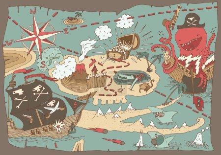 Island Treasure Map