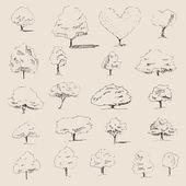 Trees sketch set
