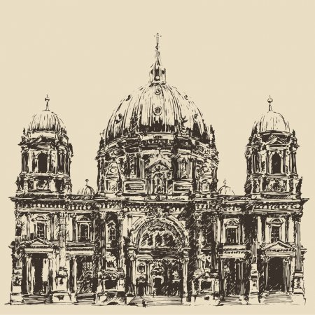 Hand drawn  Berlin Cathedral