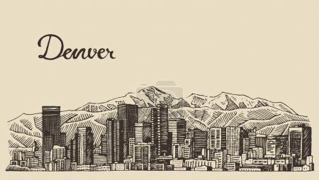 Hand drawn Denver city