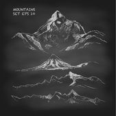 Set of Hand drawn Mountains