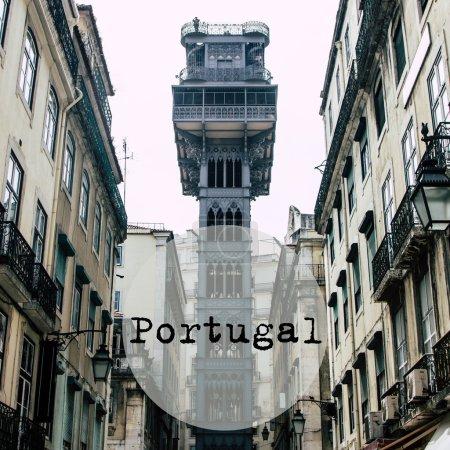 Elevador de Santa Justa in the centre of Lisbon, Portugal
