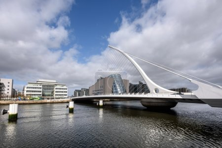 Samuel Beckett bridge in Dublin,Ireland