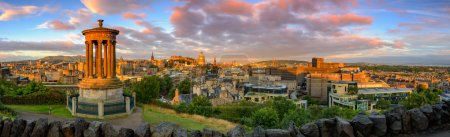 Photo for Panoramic view of Edinburgh castle from Calton Hill, Edinburgh, Scotland. - Royalty Free Image