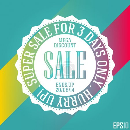 Effective Discount Sales Banner. Isolated Decorative Cheap Vector Ribbon. EPS10 Illustration Design
