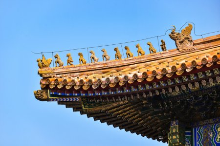 Roof of the Hall of Supreme Harmony, at the Forbidden City, Beijing