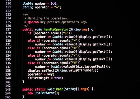 Photo pour Code source en langage informatique - image libre de droit