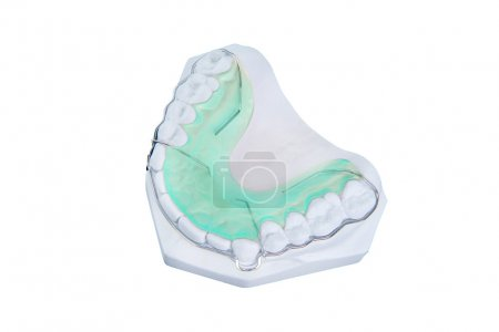Retainer and brace with  gum