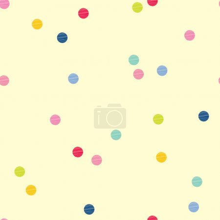 Illustration for Cute polka dot. Vector seamless pattern. - Royalty Free Image