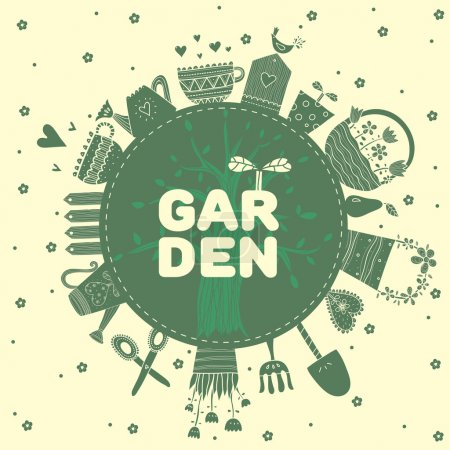 Green Garden inscription