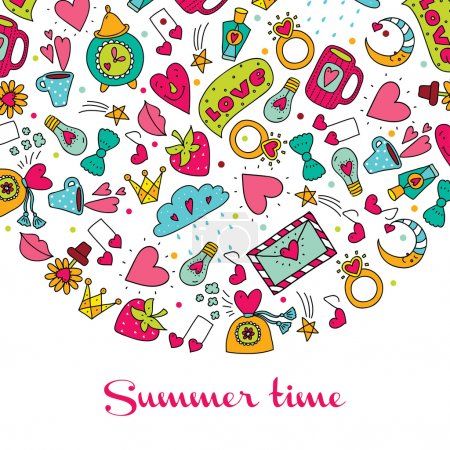 Summer time  postcard.