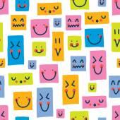 Cute kids  colorful faces