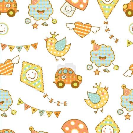 cars, mushrooms and birds