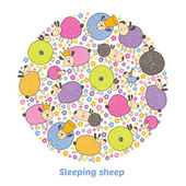 Lovely sleepy sheeps