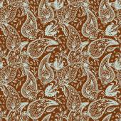Seamless pattern in two colors Paisley design