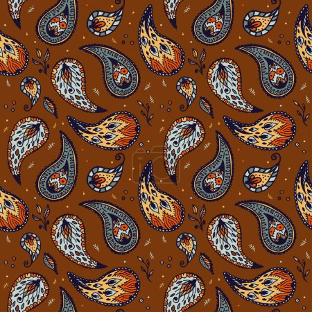 Seamless pattern in Paisley design
