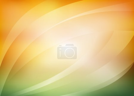 Vector green and orange background with arcs...