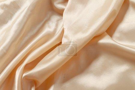 Photo pour Satin lisse beige - image libre de droit