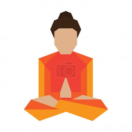 Yoga asans pose vector illustration