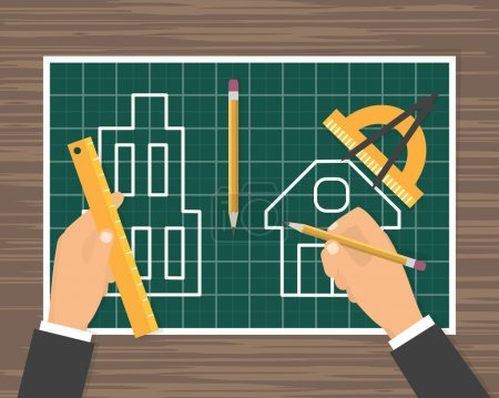 Construction plan blueprint
