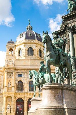 Detail of Maria Theresa monument in Maria-Thesienplatz, Vienna, Austria